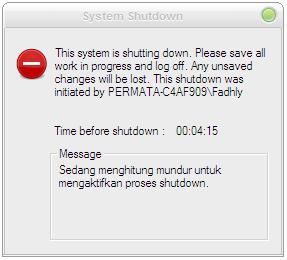 Gambar Proses Auto Shutdown